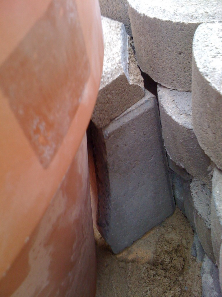 Side View of Air Vent Brick for Homemade Tandoor