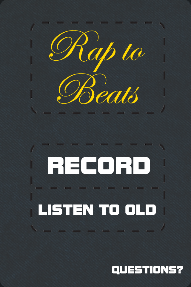 This is the new home page for the redesigned Rap to Beats